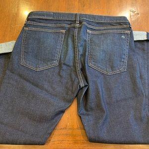 rag & bone Jeans - Rag & Bone Dre dark straight leg slim boyfriend